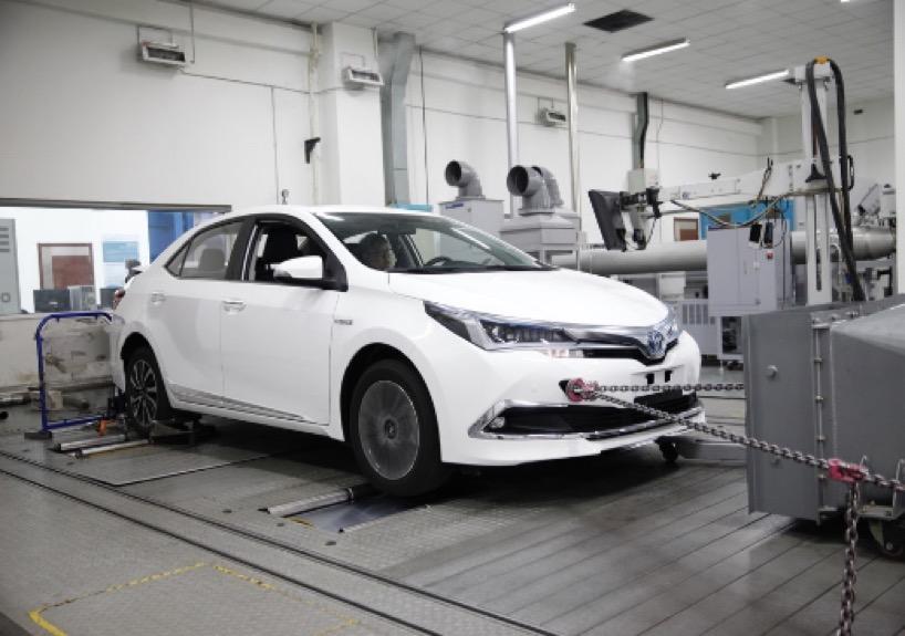 一汽丰田卡罗拉双擎在中汽中心国家轿车质量监督检验
